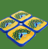 Peacock Coaster Set of 4