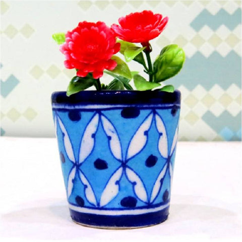 Light Blue Mini Planter