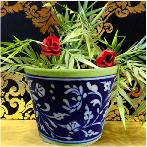 Dark Blue Plant Holder Small
