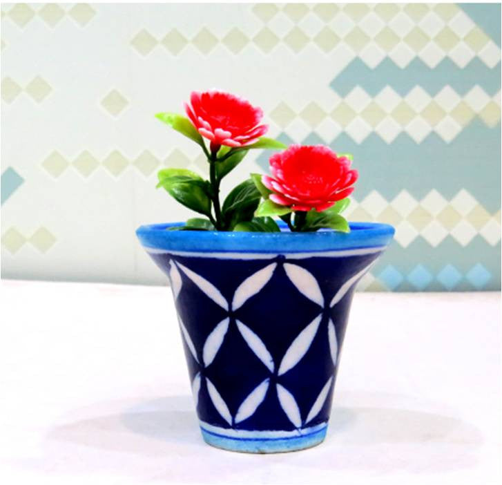 Dark Blue Mini Planter