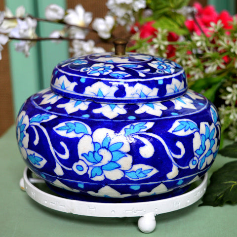 Decorative Rose Bowl Small Dark Blue