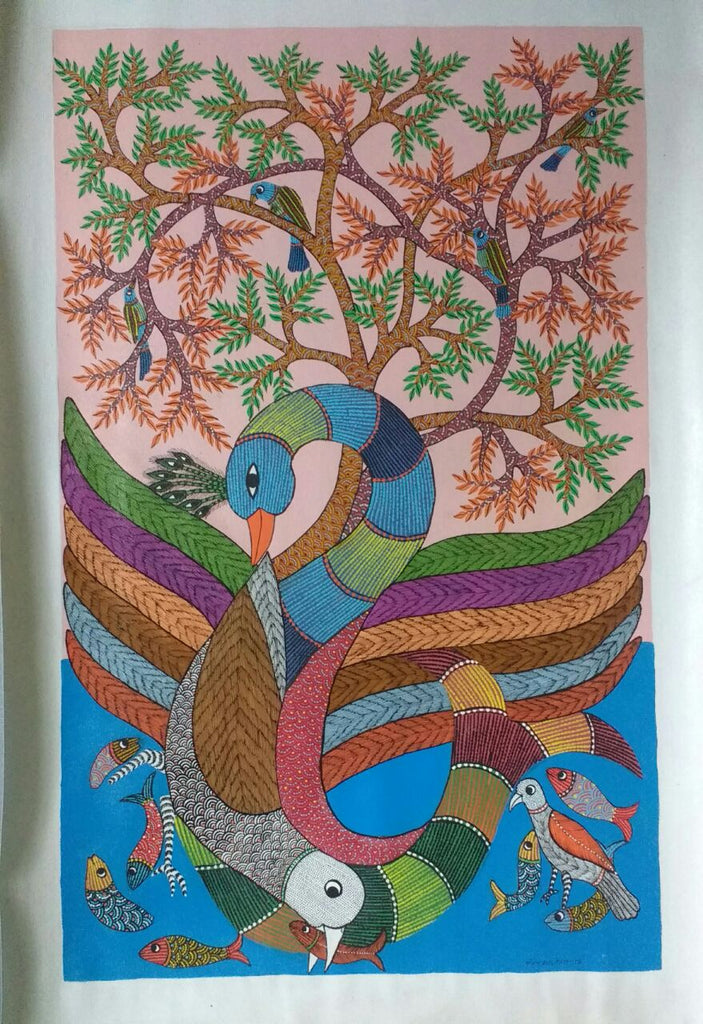 Tree of Life with Fishes & Birds