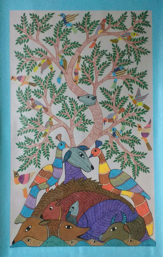 Tree of Life With Birds And Animals