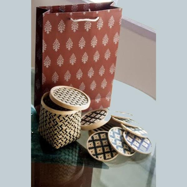 6 Bamboo Coasters With A Box
