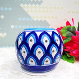 Blue Pottery TeaLight Holder