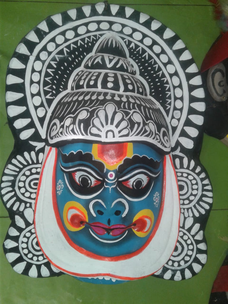 Kathakali Chhau Mask Big (Blue)