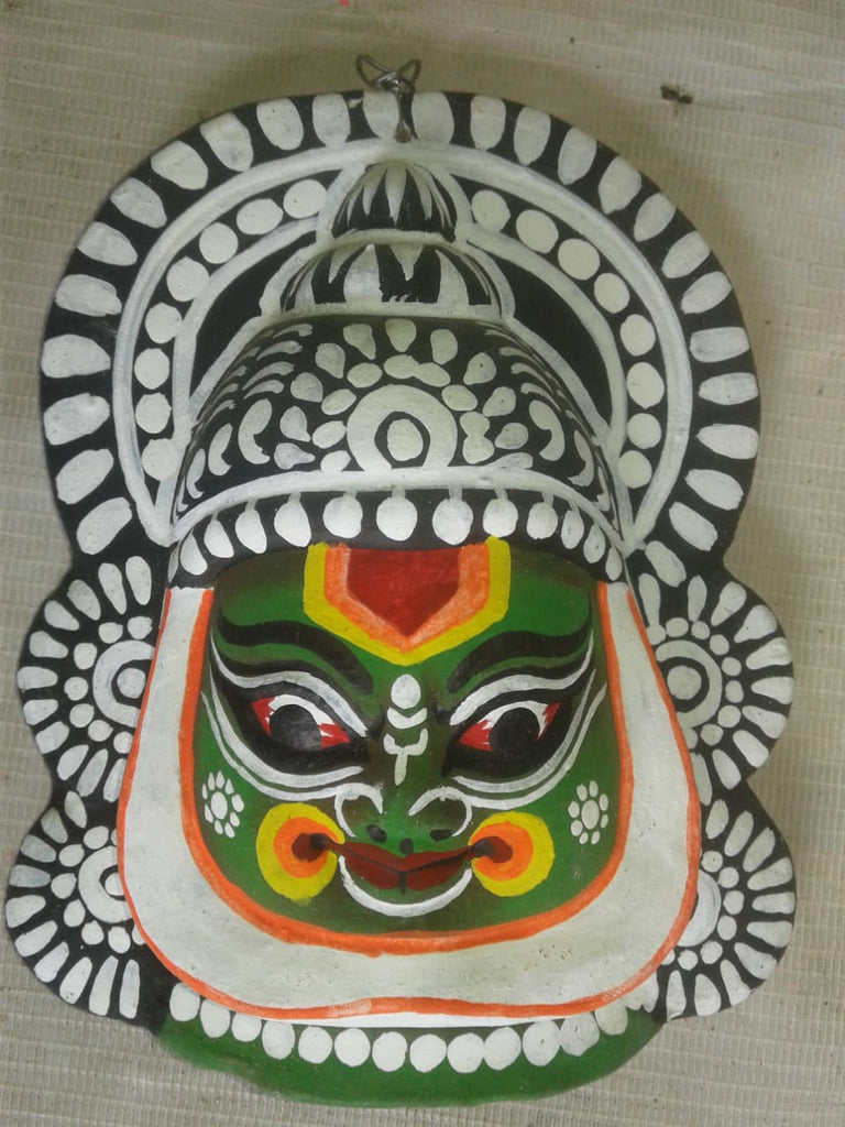 Kathakali Chhau Mask Medium (Green)
