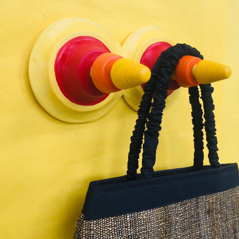 Trikone Khunti (Double) Wall Hanger Red & Yellow
