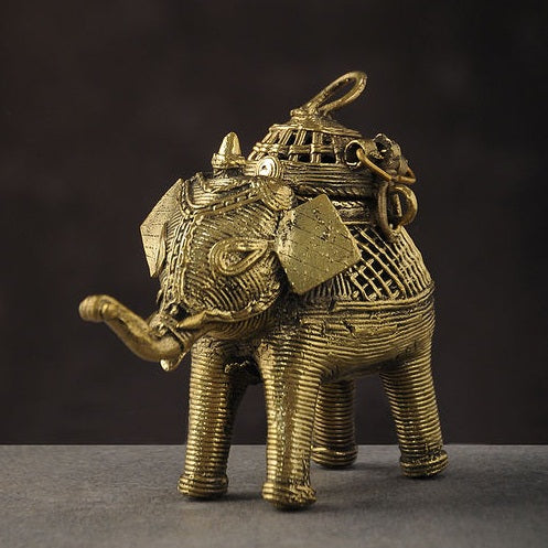 Dhokra Elephant Box Large