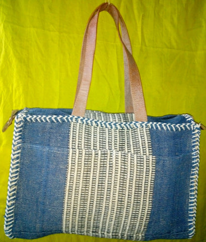 Jute Cotton Sqaure Travel Bag