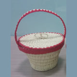 Palm Leaf Basket With Handle With Lid