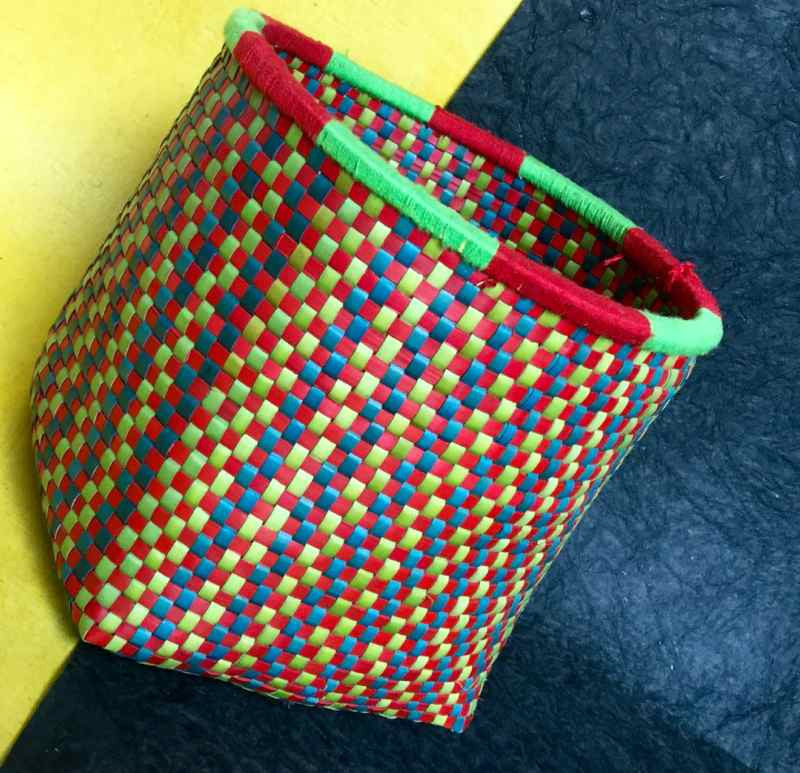 Rye Big Basket - Blue-Green