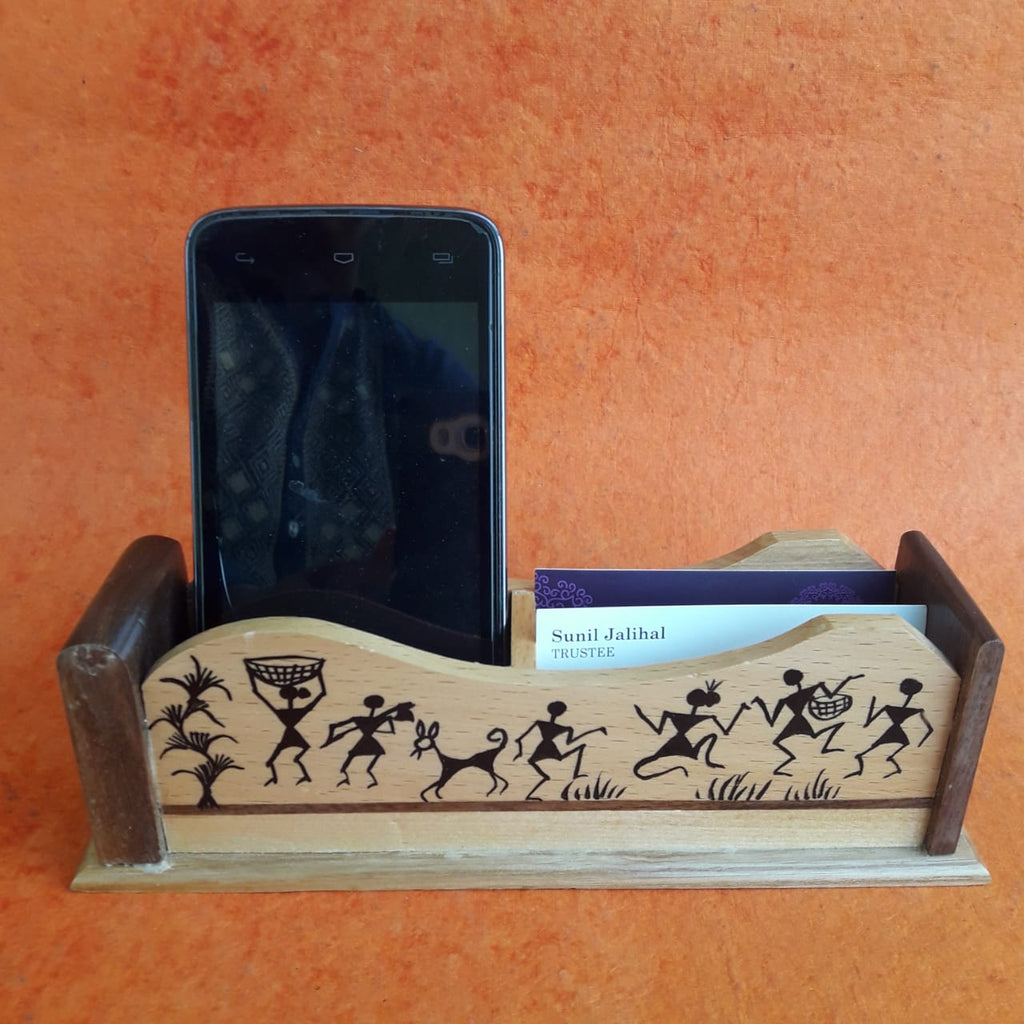 Wood Mobile and Card Holder