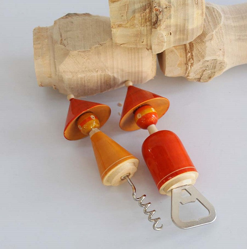 THE MADHATTERS Bottle and cork opener set