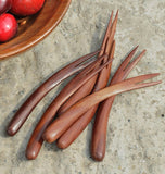 Natural Fruit Forks-Set of 6