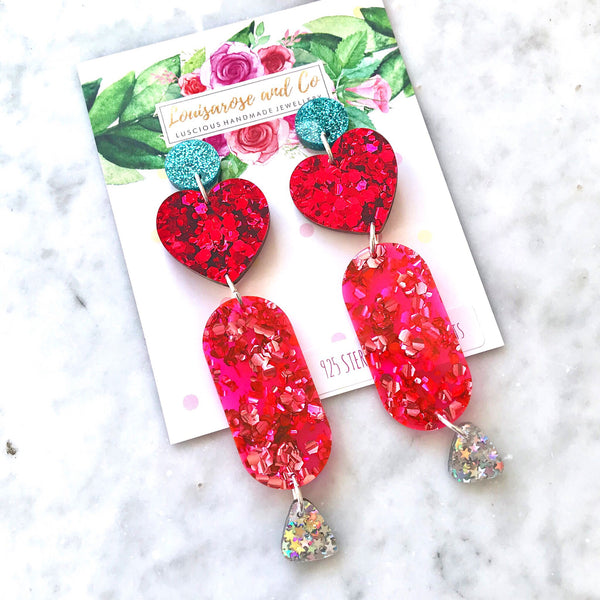 Statement Glitter Hearts