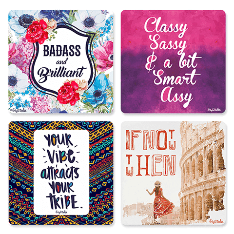 Boss Girl Coaster Set