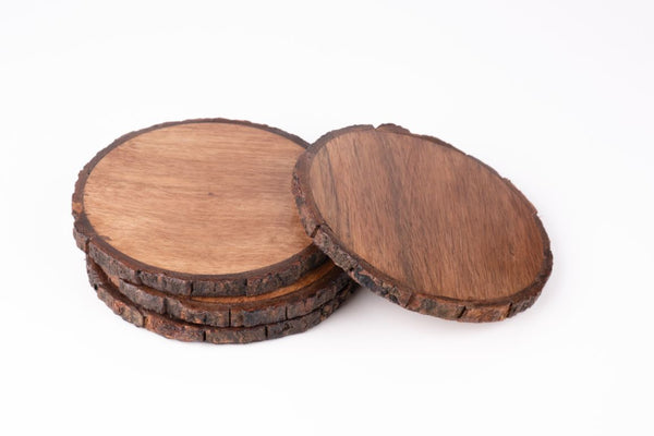 Coasters Wooden Bark