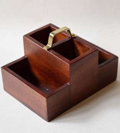 Wooden Condiment Stand Small