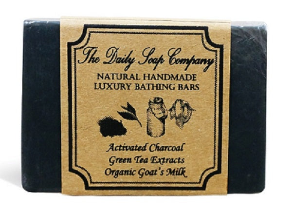 Activated Charcoal and Green Tea Extract Handmade Soap