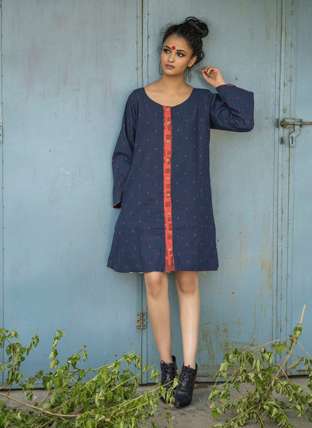Reversible A-Line Patchwork Dress