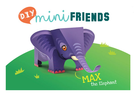 Mini Elephant Educational DIY Paper Craft Kit: Endangered Wildlife Series