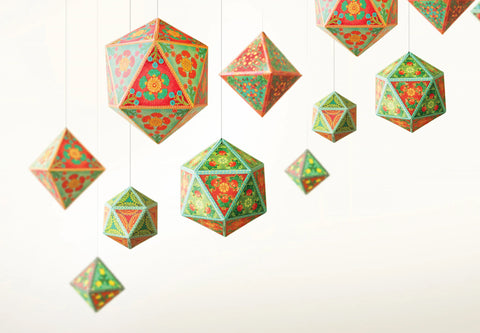 Festive Decor: Set of 10 Ornaments - DIY Paper Craft Kit