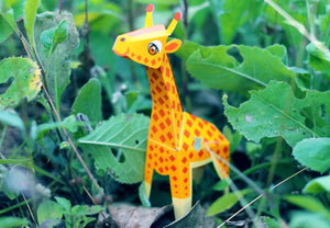 Mini Giraffe Educational DIY Paper Craft Kit: Endangered Wildlife Series