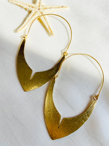 Handcrafted brass & plated with Gold Earrings