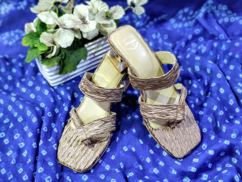 Satin Sandals with Transparent Heel