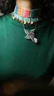 Choker with bird pendant