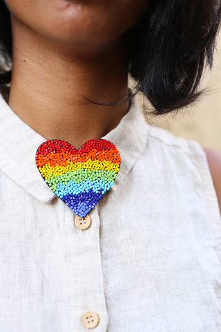 Rainbow Brooch + Necklace