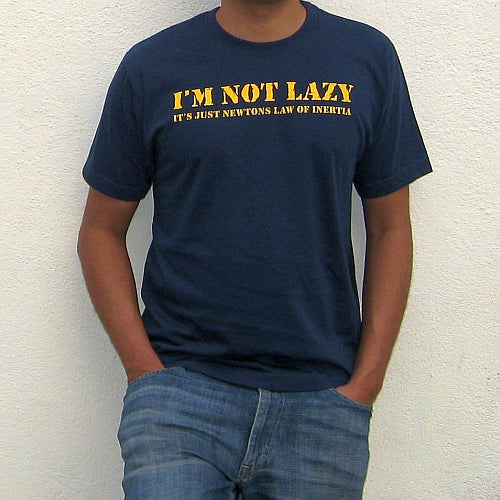 I AM NOT LAZY Denim Blue