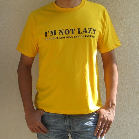 I AM NOT LAZY Yellow