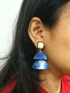 Indigo double decker jhumka