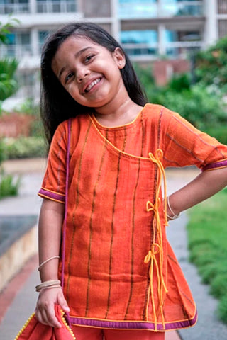 Kids Handloom Angrakha and Palazzo Festive Set
