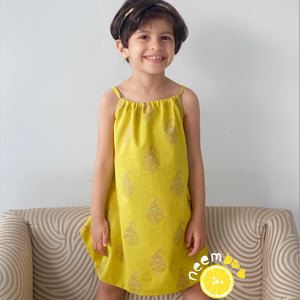 Knotty Little Dress - Lemon Yellow