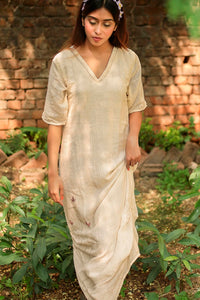 Kora Long cowl hem dress