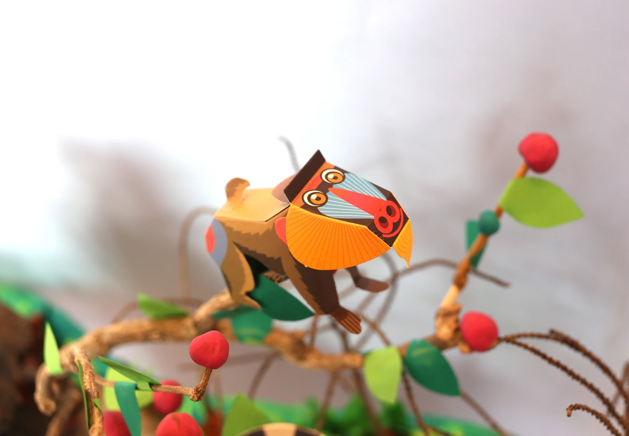 Mini Mandrill Educational DIY Paper Craft Kit: Endangered Wildlife Series