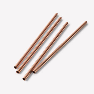 Copper straw - Pack of 2 w/Cleaner