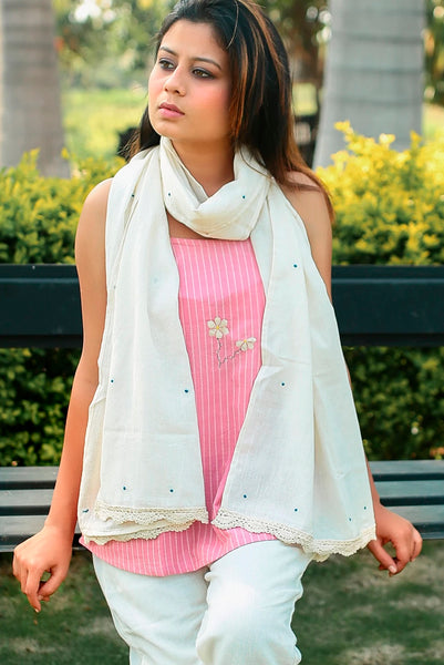 Masakali polka embroidered stole
