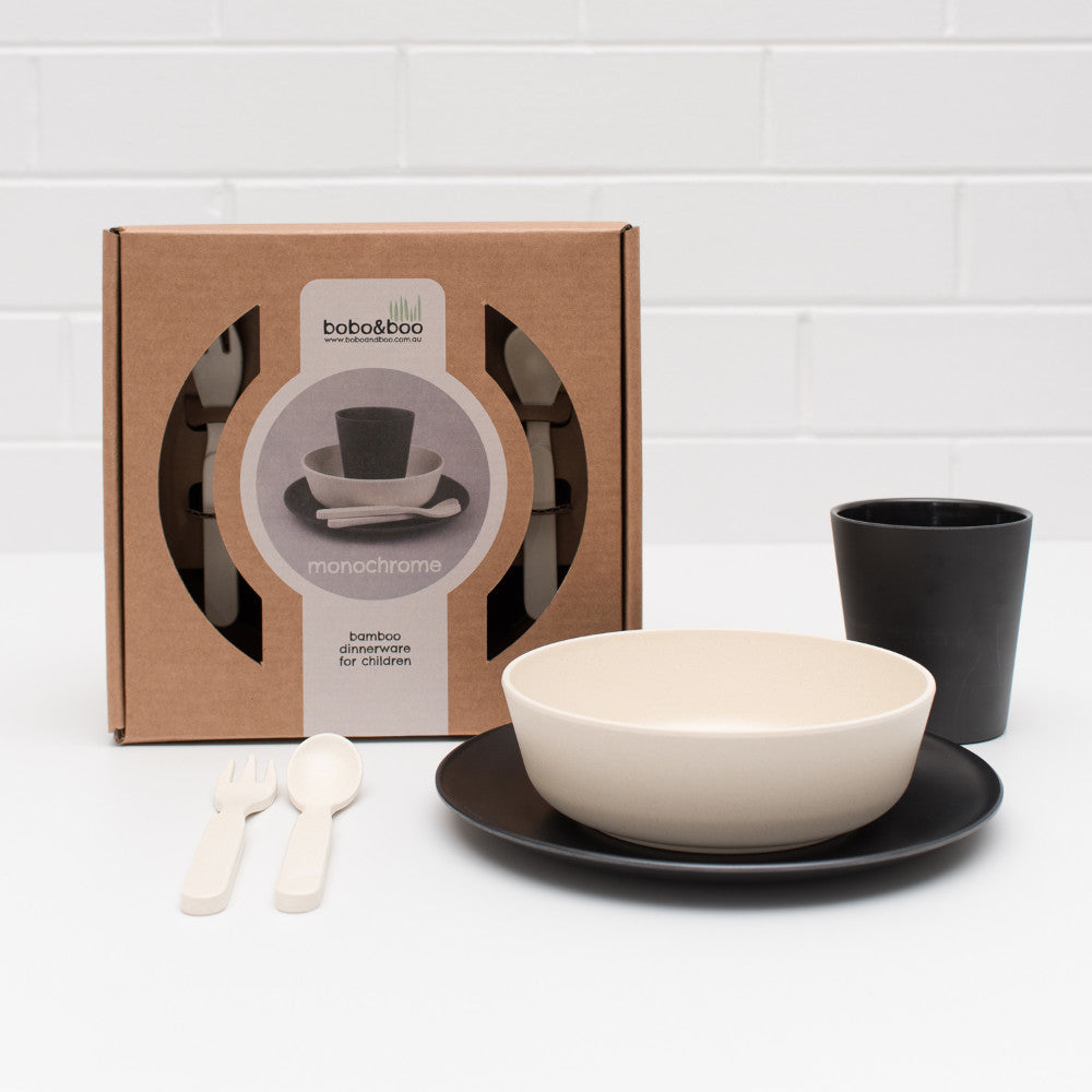 5 Piece Dinner Set - Monochrome