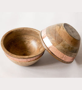 Nut Bowl Wooden Crocodile Rose Gold