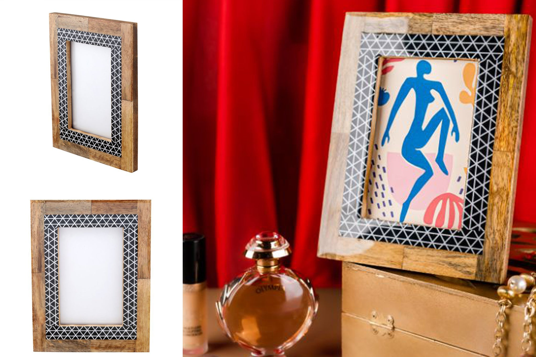 Photo Frame Wood Meena Combo