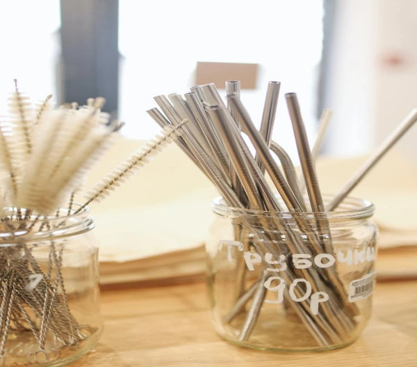 Stainless Steel Straw w/cleaner