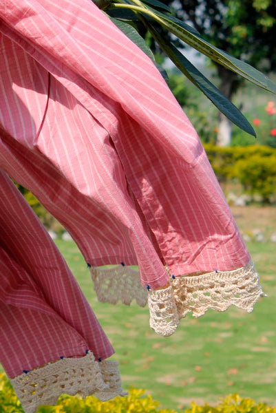 Pink striped stole