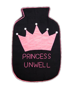 Princess Unwell Black Hot Water Bag Cover