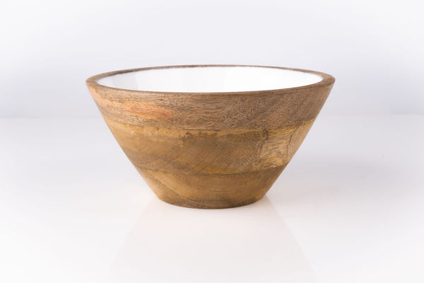 Serving Bowl Wooden White
