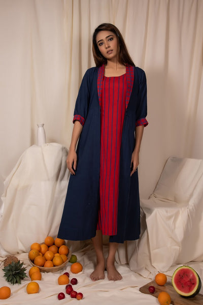 Plummed Jacket and Dress Set