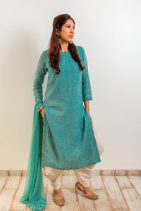 Straight Kurta in mul with potli buttons on the cuff